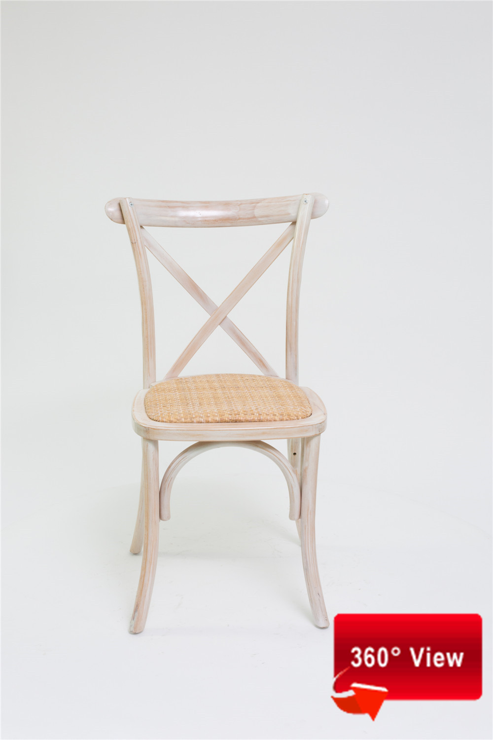 ZS-9002T RATTAN SEAT CROSS BACK CHAIR