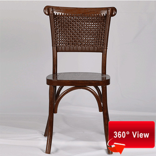 NEW RATTAN BACK DINING CHAIR