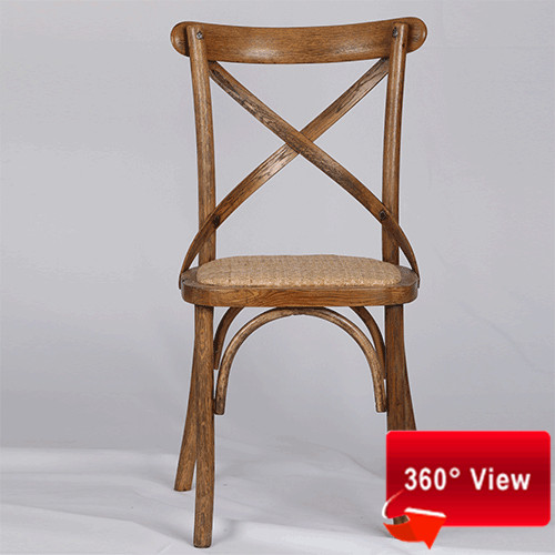 ZS-9002L OAK WOOD CROSS BACK CHAIR