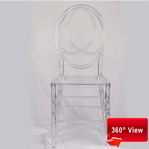 ZS-8046PR RESIN PC CLEAR PHOENIX CHAIR