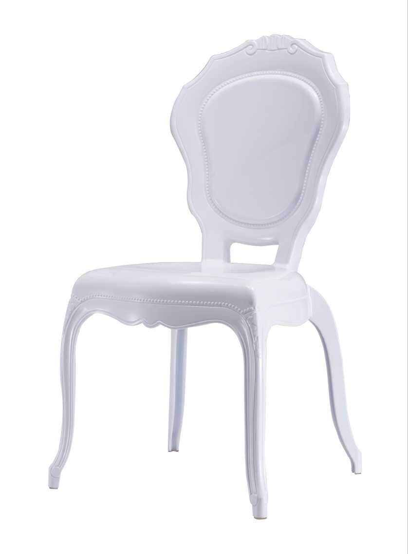 ZS-9007B PLASTIC BELLA CHAIR WHITE